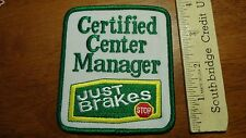 JUST BRAKES BRAKE CENTER MANAGER AUTO PARTS AUTO SERVICE REPAIR      BX V #12