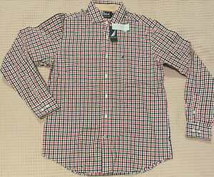 Nautica Mens Long Sleeve Check Shirt size M