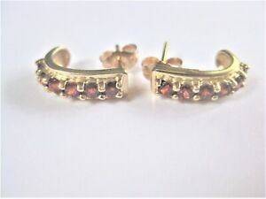 Earrings Gold 375 With Citrine, 2,41 G