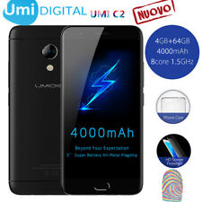 5.0''Umidigi C2 64GB ROM 4GB RAM HD Smartphone 13MP 4G Cellulare 4000mA TOUCH ID