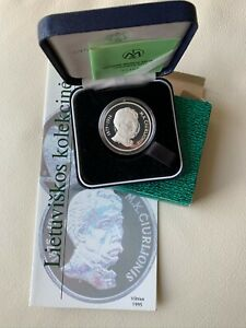 1995 Lithuania 50 Litas Ciurlionis   PROOF