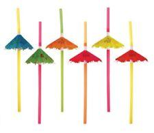 12 Cocktail Umbrella Straw Tropical Hawaiian Birthday Hen Party Accessories