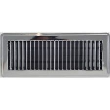 Chrome Metal Louvered Floor Vent Cover 100x300mm