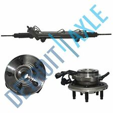 Steering Rack and Pinion + 2 Wheel Hub Bearing Assembly for Sport Trac - w/ ABS