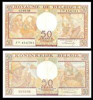 BELGIUM 50 FRANCS 1956  P 133 Banknote