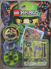 LEGO NINJAGO MASTERS OF SPINJITZU SPINNER SET 9569 *NEW* SPITTA SNAKE NINJA