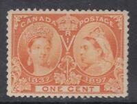 "Canada MINT NH Scott #51 1 cent orange ""Diamond Jubilee""  VF"