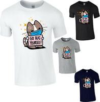 Social Distancing Cute Cat T-Shirt Quarantine Funny Kitty Cat Mask Kittens Top