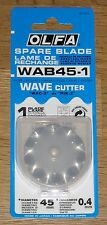 OLFA wab45 45mm di Rotary WAVE Cutter Lama di ricambio-si adatta a wac-2, PIK-2 & RTY-2 / DX)