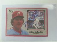Mike Schmidt Autographed Card JSA Auction Certified