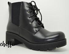 Anfibi militari con lacci ed elastico scarponcini neri impermeabili stivaletti