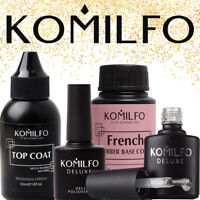 KOMILFO Nail Gel Polish Rubber Top & Base Acid Free Matte Top, No Wipe, Top Coat