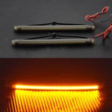 39mm-41mm Fork LED Turn Signal Strip Amber Light Kit For Harley Victory Honda