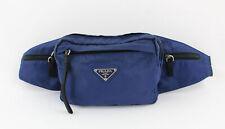 Prada Navy Blue Microfiber Fanny Pack Handbag