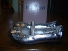NEW Little Girls Size 10.5 Me Too Lil Limit ll Silver Metallic Ballet Flat Shoes