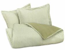 FLANNEL REVERSIBLE DUVET COVER SET by DELANNA Sage Green 100% Cotton Full/Queen