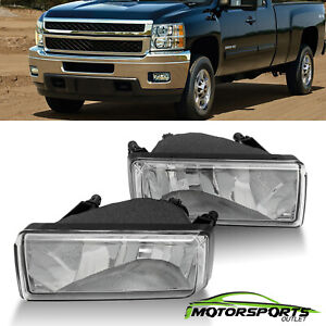 For 2007-2013 Chevy Silverado Tahoe Suburban Avalanche Chrome Lens Fog Lights