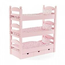 18 Inch Doll Triple Bunk Bed Stackable Wooden Furniture Made To Fit American