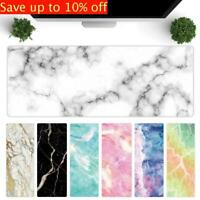 Marble Grain Large Rubber Mouse Pad Mice Mat Laptop Desk Cushion Keyboard