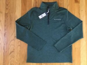 NWT Boy's Vineyard Vines LS 1/4 Performance Whale Shep Shirt Pullover L $79.50