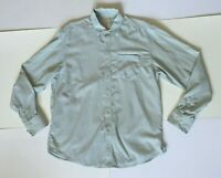 TOMMY BAHAMA Mens L Long Sleeve Striped Sea Green Pinstripe LS Button Up Shirt