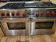 """Wolf 60"""" Dual Fuel Range- 6 Burners,Infrared Charbroiler and Infrared Grill used"""