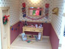 Dolls house miniature 12th scale - Christmas decoration set