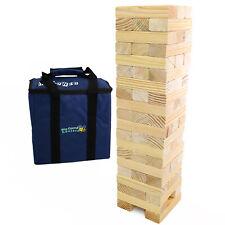 Jumbo Hi-Tower giant wooden tumble tower game in bag  0.6m > 1.5m