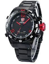 Shark Mens LED Date Day Digital Black Red Army Sport Quartz Wrist Watch - SH101