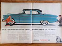 1955 Plymouth Belvedere Sedan Ad 1955 Chrysler Windosr Deluxe Nassau Ad