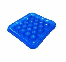Air or Water Inflatable Cushion Seat Pad for Wheelchair Home School Office Blue