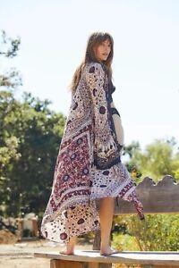 Free People Arabella Kimono Maxi  Duster New Size M