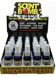 20 Bottles (5 Scents) 1oz Scent Bomb Air Freshener Concentrated Odor Eliminator