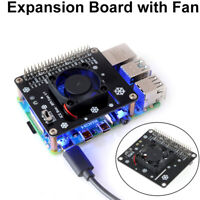 AU_ KQ_ GPIO Expansion Board Cooling Fan LED Module for Raspberry Pi 4B 3B+ 3B 2