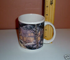 """2008 Thomas Kinkade """"Hometown Christmas Memories"""" Collector Coffee Mug"""