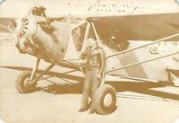 Douglas Wrong Way Corrigan and the Curtiss Robin Monoplane 1938 Postcard A01