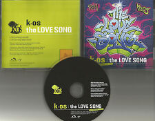 K OS The Love Song w/ RARE RADIO EDIT 2004 USA PROMO Radio DJ CD single kos