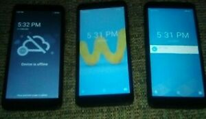 Lot of 3 NEW Wiko U307AS Assurance Wireless 4G LTE Check IMEI Grade A/B/C RJ008