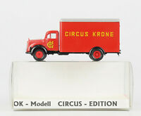 OK-MODELL Circus-Edition Spur H0: MB Koffer-LKW, CIRCUS KRONE, OVP, top!