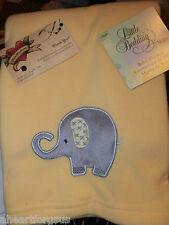 BLANKET ELEPHANT YELLOW FLEECE NOJO LITTLE BEDDING TIME SWADDLE NEW BOY JUNGLE