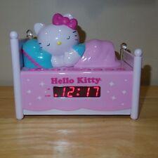 Sanrio Hello Kitty AM FM Radio Snooze Button LED Alarm Clock Nightlight - KT2052