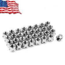 32 Open End Bulge Acorn 9/16-18 Wheel Lug Nuts for Ford F-250 Dodge Ram 3/4 Hex