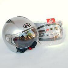 Bilt Pilot Style 3/4 Open Face Motorcycle Helmet Size Small S Gray Extra Shield