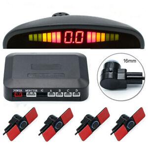 4Pcs Sensors Car Reverse Backup Rear Buzzer Radar System Sound Alarm Accessories