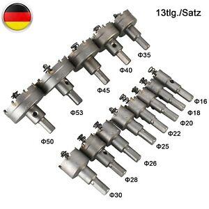 Ø16-53mm HM Bohrkrone Dosenbohrer Kernbohrer Hartmetall Lochsäge Für Metall