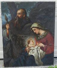 Antique Vintage Oil Painting Jesus Mary Joseph Holy Family Harriet Korzeniewski