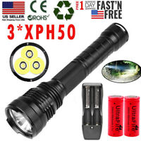 XHP50 990000Lumens Tactical Zoomable Garberiel LED Flashlight Reachargable 18650