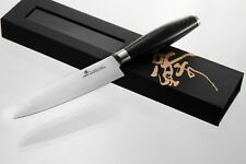 ZHEN Japanese 3-Layer Forged High Carbon Steel Small Santoku 5-inch, Micarta