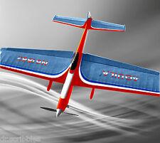 "Model Airplane Full Size Printed Plan C/L Nostalgic 30 W/S Stunt 56"" AQUILA"