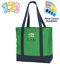 Personalized Teacher Tote Bag Embroidered Monogrammed with Name